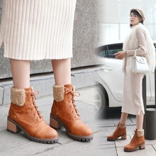 Large Size Martin Boots 2019 Autumn and Winter New Wild Thick Bottom Non-slip Womens with Ankle