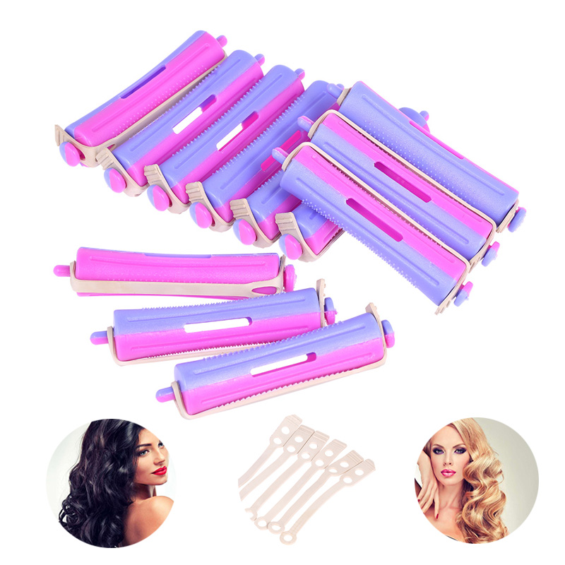 12 Pieces Salon Cold Wave Rods Salon Hair Roller Rubber Band Curling Curler Hair DIY Perm Rod Hairdressing Styling Tool Dropship