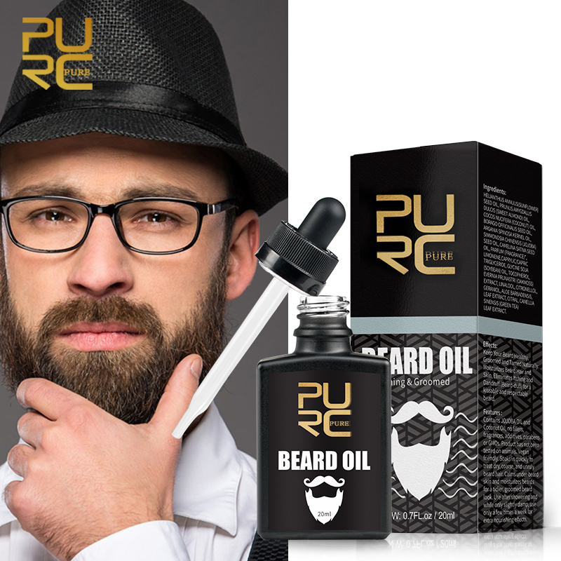 New PURC Beard Oil Nourishing & Groomed Moisturizes Beard Eliminates Itching and Anti Dandruff Beard Oil|Hair Loss Products| - AliExpress