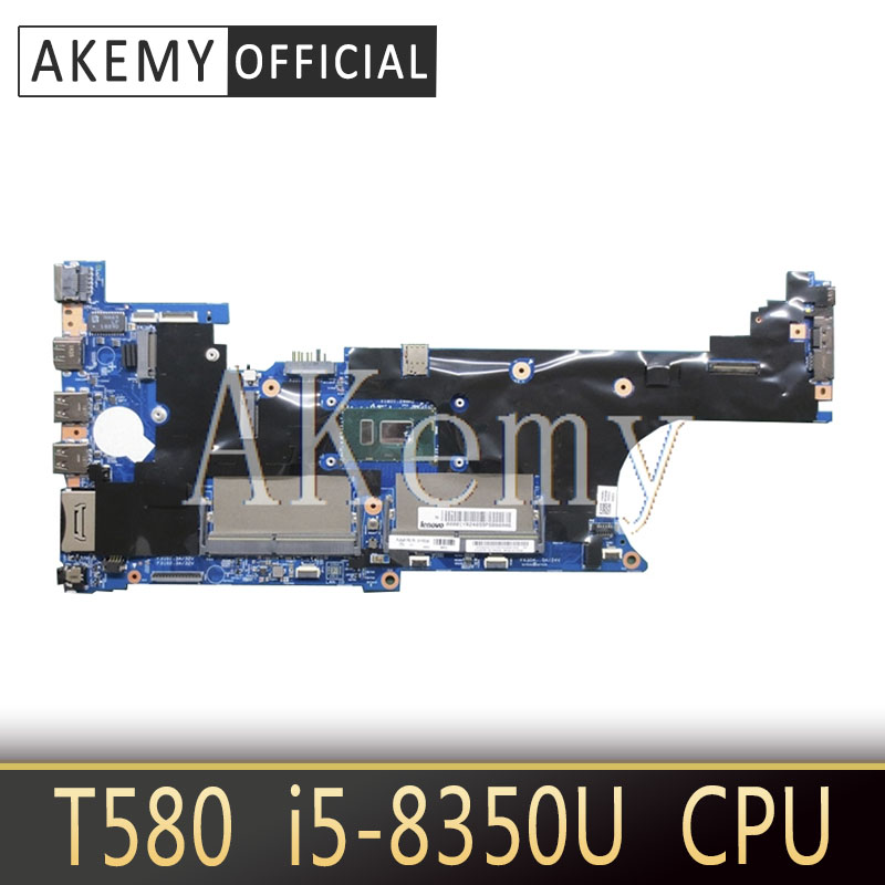 Laptop motherboard For Lenovo Thinkpad T580 Core SR3L9 i5-8350U Mainboard 17812-1 01YR250