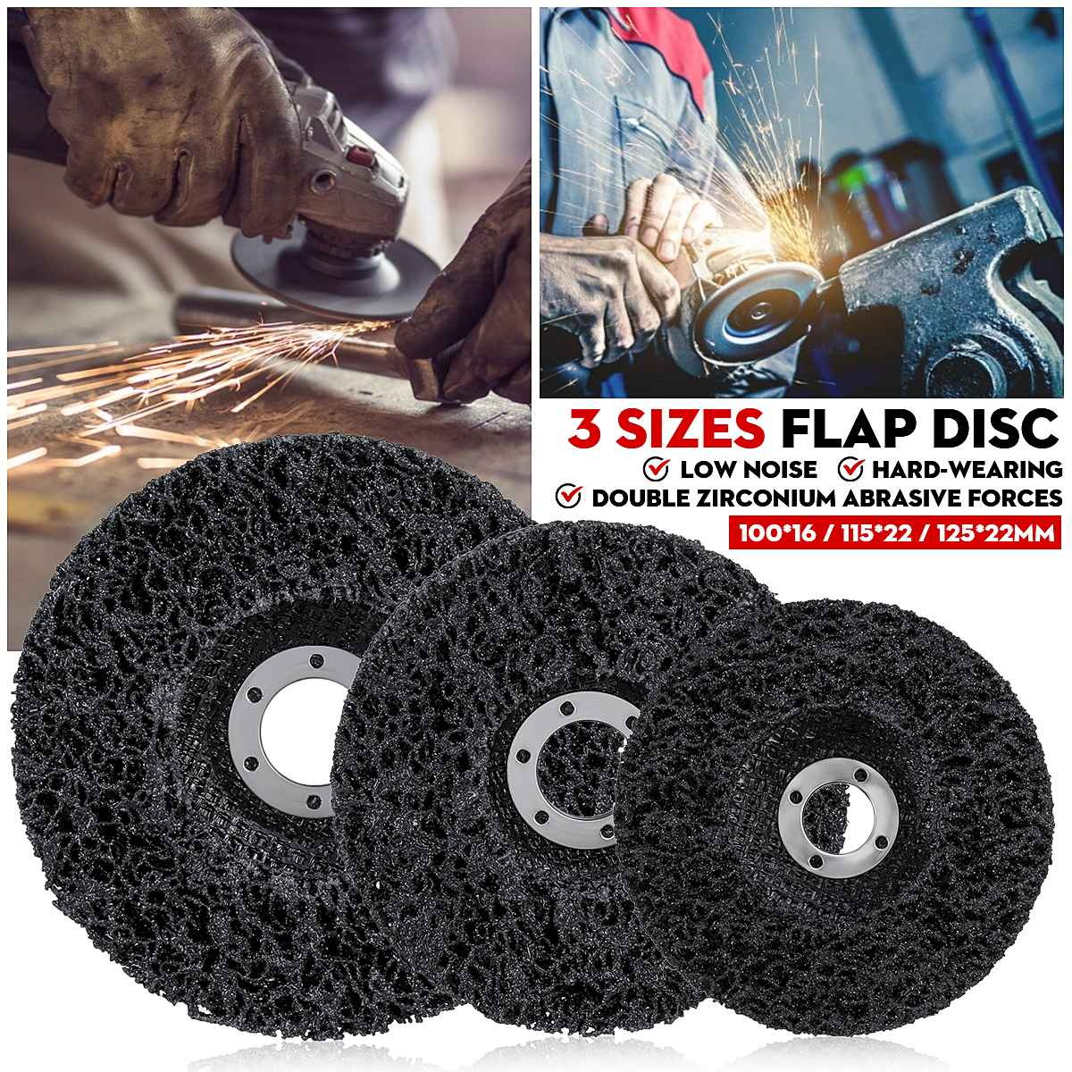 100/115/125mm Strip Disc Abrasive Wheel Paint Rust Remover Clean Grinding Wheels Durable Angle Grinder For Car Truck Motorcycle