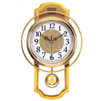 Reloj de péndulo Vintage grande para decoración de pared, mecanismo de Reloj...