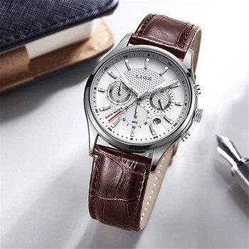 цена 2020 New Watch Men Fashion Sport Quartz Clock LIGE Mens Watches Brand Luxury Leather Business Waterproof Watch Relogio Masculino онлайн в 2017 году