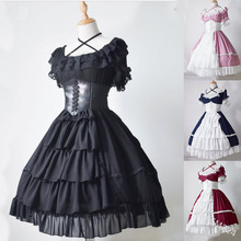 Ball-Gown Medieval-Dress Party-Clothes Cosplay Vintage Princess Gothic Women Flare-Sleeve