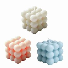 Home Decoration Candle Cube Bubble Candles Soy Wax Aromatherapy Cube Candle Scented Relaxing Birthday Gift Home Decoration
