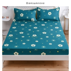 Fitted Sheet With Elastic bed Linen Polyester Mattress Cover Rabbit Flower Printed Queen King  Bed sheet with pillowcases 2020