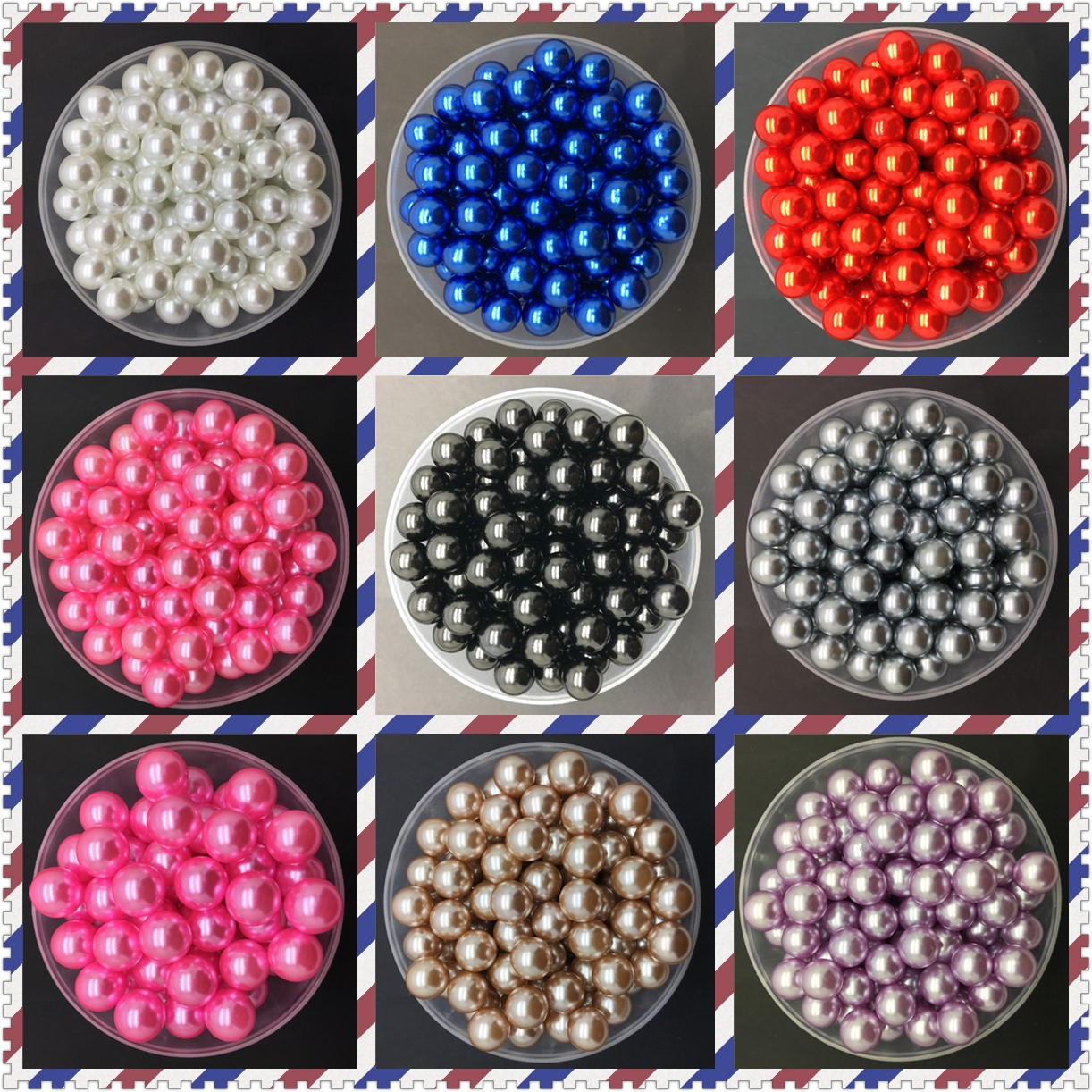 NEW DIY 4mm 6mm 8mm 10mm Acrylic No Hole Round Pearl Loose Beads Jewelry Making(China)