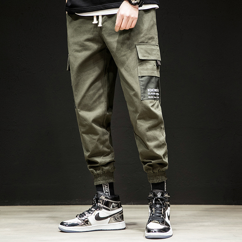 2019 Spring Pants MEN'S Casual Pants Korean-style Popular Brand Loose-Fit Skinny Capri Pants Beam Leg Harem Pants Bib Overall