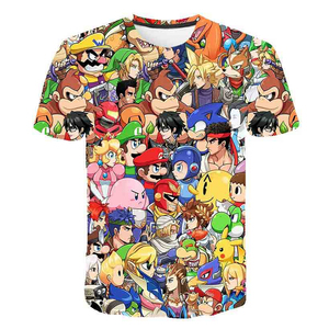Cool Cartoon Super Mario Sonic 3D Design T-shirt Kids Summer T Shirt Youth Boys Girl Tshirt Casual Top Tee Clothing(China)