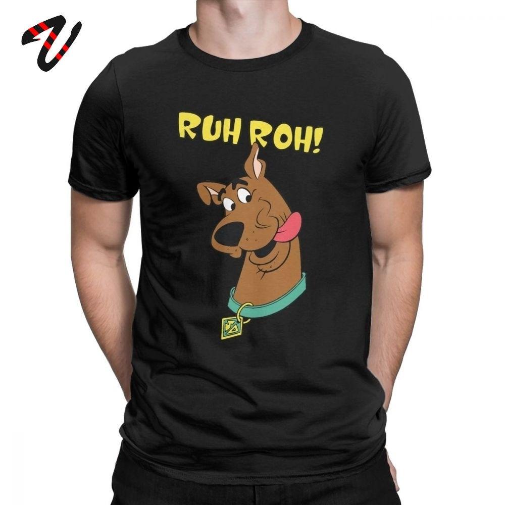 Cotton Men T- Shirts Scooby Doo Ruh Roh  Men T Shirt Funny Tee Shirt  Crew Neck T Shirts  Summer Tops Tees