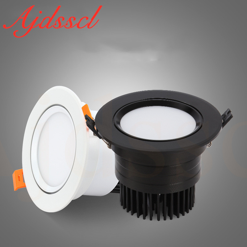 Downlight LED COB Spotlight Dimmable Ceiling Lamp AC110V-220V 3W 5W 7W 9W 12W 15W Recessed Downlights Round Led Panel Light