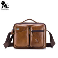 LAOSHIZI 2020 men's Messenger Bag Men Shoulder Bag Genuine Leather Business Male Crossbody Bags for Men Cross Body Bag Handbags