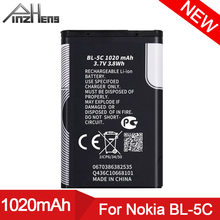 PINZHENG BL-5C do telefonu komórkowego Nokia BL 5C BL-5C BL5C 1112 1110 6600 N70 N71 N90 wymiana baterii BL 5C Bateria