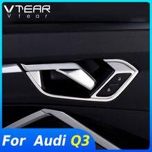 Vtear para Audi Q3 F3 2019 de 2020 de acero inoxidable 2021 cubierta de manija de puerta Interior molduras de Marcos Interior accesorios de decoración de la etiqueta engomada