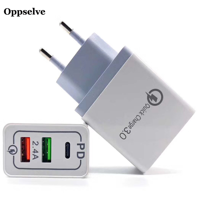 <font><b>30W</b></font> Multi PD Highspeed <font><b>Charger</b></font> Type C <font><b>USB</b></font> <font><b>Charger</b></font> for Samsung iPhone Huawei Tablet QC 3.0 Fast Wall Charge Device Plug Adapter image