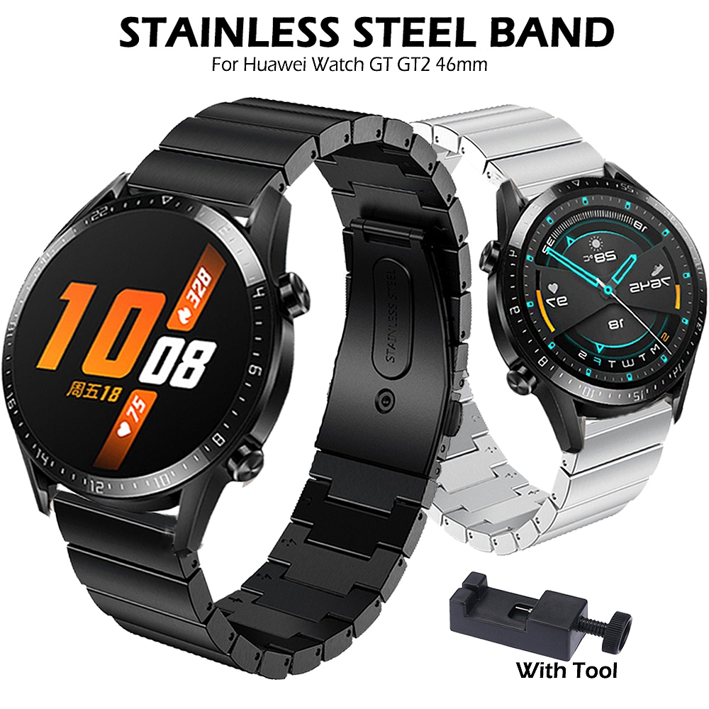 Stainless Steel Band for Huawei Watch GT GT2 46mm /Honor Magic /GT Active Strap 22mm Watchband Bracelet for gt 2/Samsung Gear S3