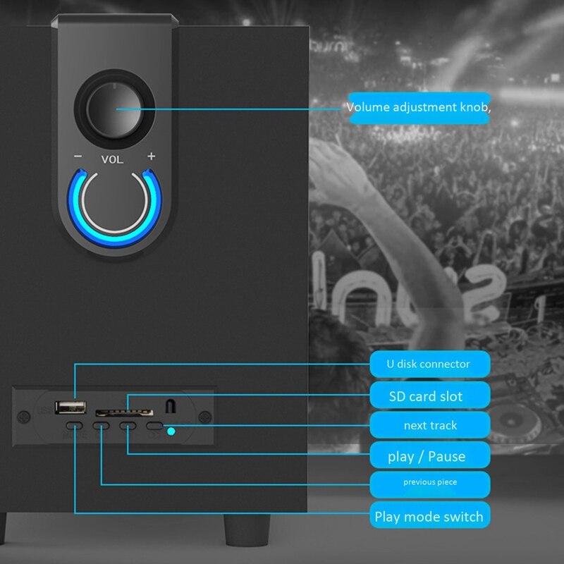 Madeira 2.1 sistema de alto-falante multimídia super