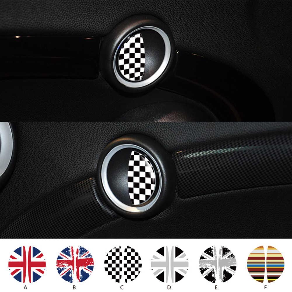 Aliauto 2 x 자동차 스티커 BMW MINI COOPER 용 도어 핸들 스티커 R50 R52 R53 R55 R56 R57 R58 R59 R60 R61 R61 R62