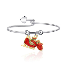 Fashion Personality Bracelet Red Socks Shoes Christmas Theme Ladies For Women To Create Zinc Alloy High Quality Jewelry