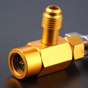 Image 3 - R 134A czynnik chłodniczy otwieracz do puszek zawór dozujący z kranu 1/2 ACME 1/2SAE gwint mosiądz Auto Car klimatyzacja kran mosiężny do Mayitr