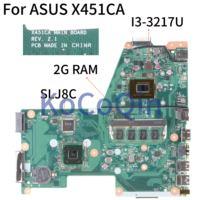 KoCoQin Laptop motherboard Für ASUS X451CA F451 F451C X451CA Mainboard REV.2.1 SLJ8C HM77 SR0N9 I3-3217U Mit 2G RAM