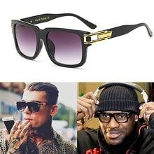 купить fashion Oversized Men luxury Brand designer Large frame men sunglasses Gradient lenses uv400 Vintage дешево