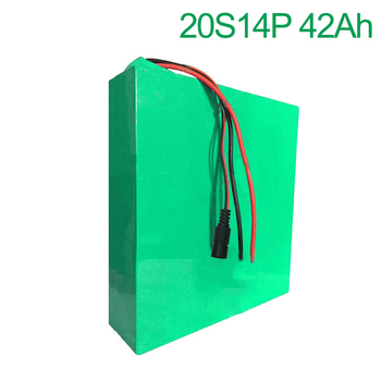 72V 42Ah 20S14P 18650 Li-ion Battery electric two Three wheeled motorcycle bicycle  ebike 380*270*70mm