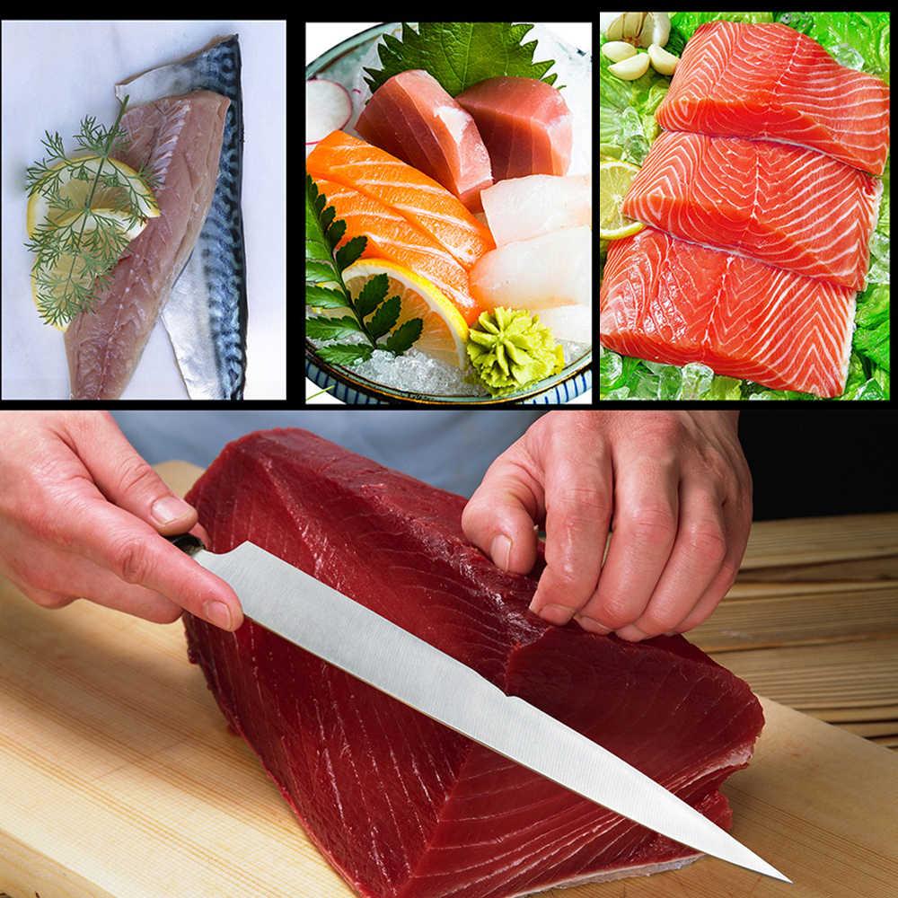 Dozzlor 1 Pc Chef Coltelli Giapponese Sushi di Salmone Coltelli in Acciaio Inox Strati di Filetto di Pesce Crudo Sashimi Coltello Coltello da Cucina Utensili da Cucina