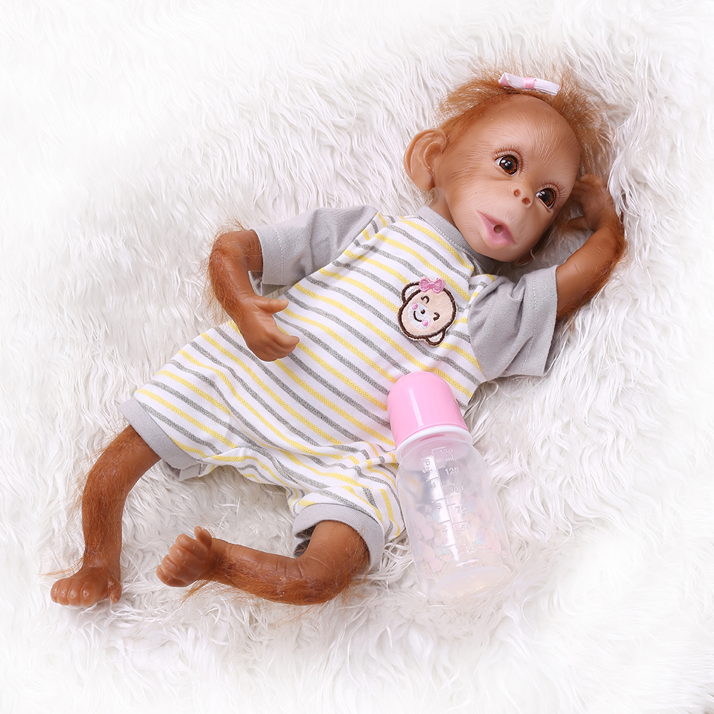 45CM fait à la main Reborn bébé singe poupées très moderne peinture réaliste nouveau-né bébés à collectionner de haute qualité Art poupée cadeaux