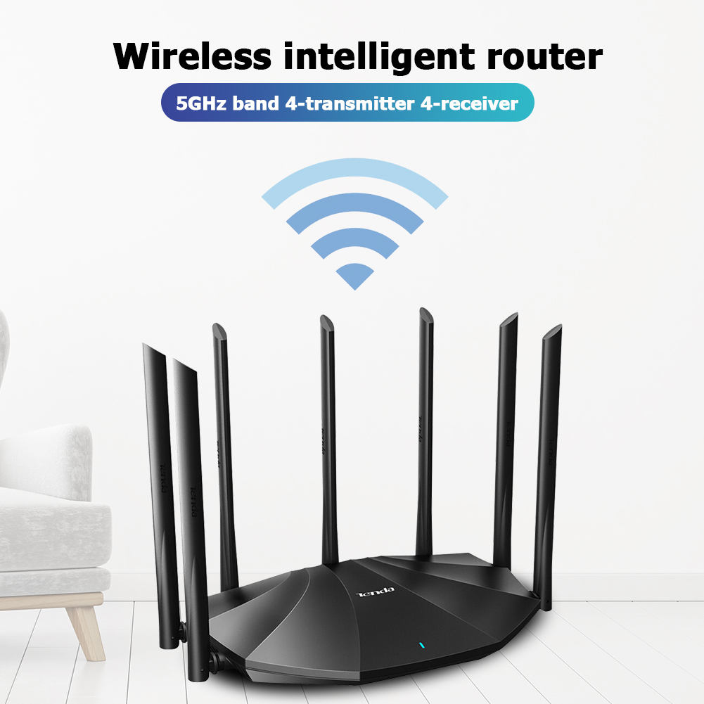 Tenda AC23 Gigabit Dual Band WiFi Router Wireless Amplifier 2100Mbps 2.4GHz 5GHz Repeater Wider Coverage Network Extender|Wireless Routers|   - AliExpress