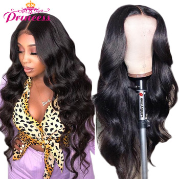 HD Transparent Lace Front Human Hair Wigs PrePlucked 13x6 180% Brazilian Body Wave Lace Frontal Wig With Baby Hair Remy Princess 1