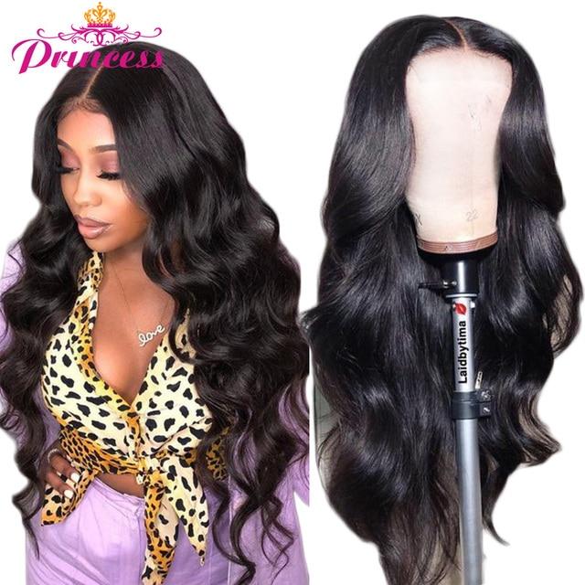 Hd perucas de cabelo humano frente do laço transparente pré arrancadas onda do corpo brasileiro peruca frontal do laço com cabelo do bebê remy pirncess cabelo 1