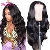 HD przejrzyste koronki przodu włosów ludzkich peruk PrePlucked 13x6 180% brazylijski ciało koronkowa fala Frontal peruka z dzieckiem włosy Remy księżniczka