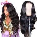 HD прозрачный Синтетические волосы на кружеве парики из натуральных волос на кружевной предварительно 13x6 180% бразильские волнистые волосы С...