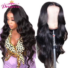 Perruque Lace Frontal Wig naturelle brésilienne – Princess, cheveux Remy, Body Wave, 13x6, pre-plucked, avec Baby Hair, Transparent HD, 180%