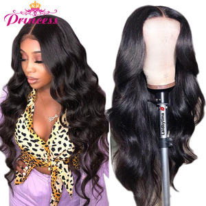 HD Transparent Lace Front Human Hair Wigs PrePlucked 8-34 Brazilian Body Wave Lace Frontal Wig With Baby Hair Remy Princess Hair(China)