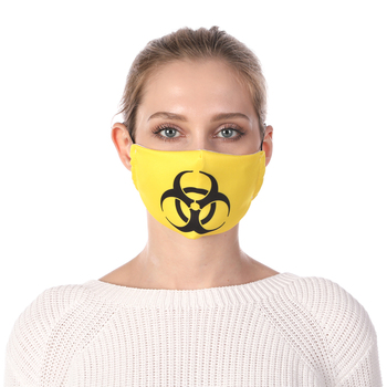 Symbol Printing Reusable Protective PM2.5 Filter Mouth Mask Anti Dust Mask Windproof Adjustable Face Masks Face Masks