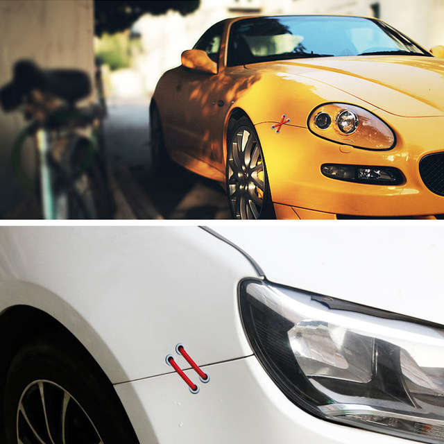 DSYCAR 1 pièces autocollant de voiture autocollant de voiture amovible parallèle croix lacets autocollant Auto Refit voitures autocollant de voiture réfléchissant