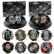 XD168-30 Limited Black Warrior Set Burst Blast Spin Assembled Burst Gyro Alloy Gyro Four in One xd168 11 burst gyro toy blast gyro pair battle disk arena b122 gyro series set