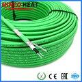 Высококачественный нагревательный кабель для труб 110 В 220 В, самоограничивающийся нагреватель 17 Вт, зеленый, экономия энергии может работат...