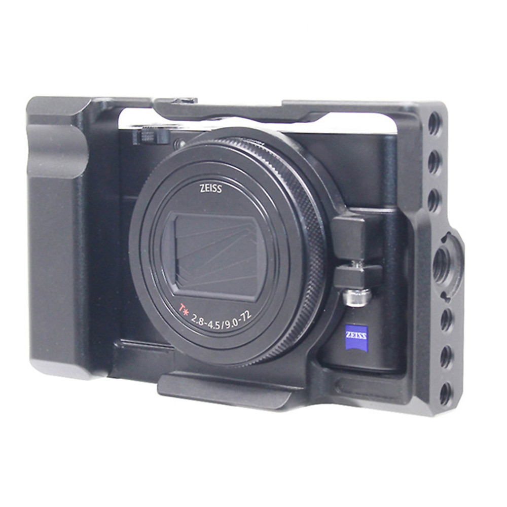 Aluminum Alloy Protective Cover Camera Cage Quick Release Plate Bracket Mount Adapter w/ 1/4 Thread Hole for Sony <font><b>RX100</b></font> M7 VII 7 image
