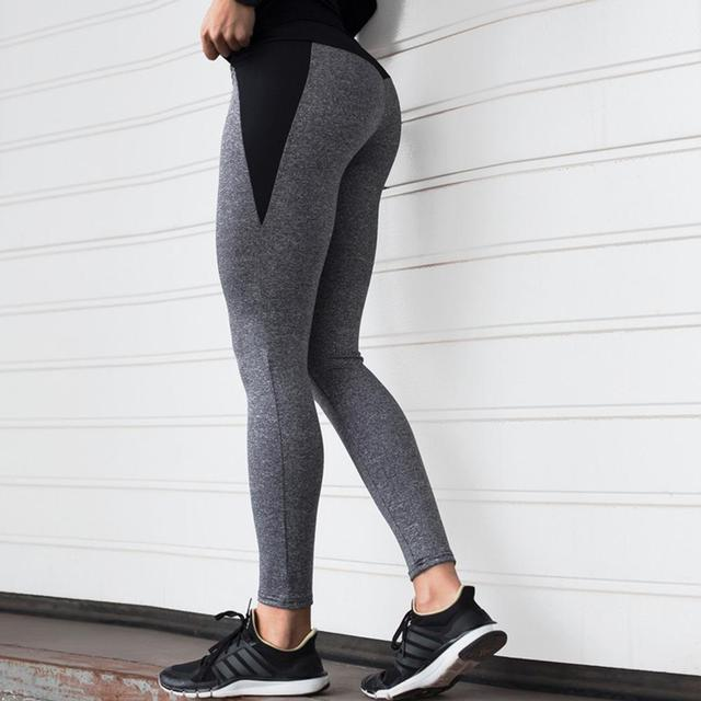 Sportswear Outdoor Polyester Elastic Force Skinny Ladies Leggings Workout Breathable Polyester Women Push Up Leggings 3