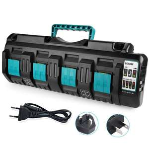 Usb-Battery-Charger Power-Tool-Combination Li-Ion-Battery Smart Protable Max-Dc18sf 4-Port
