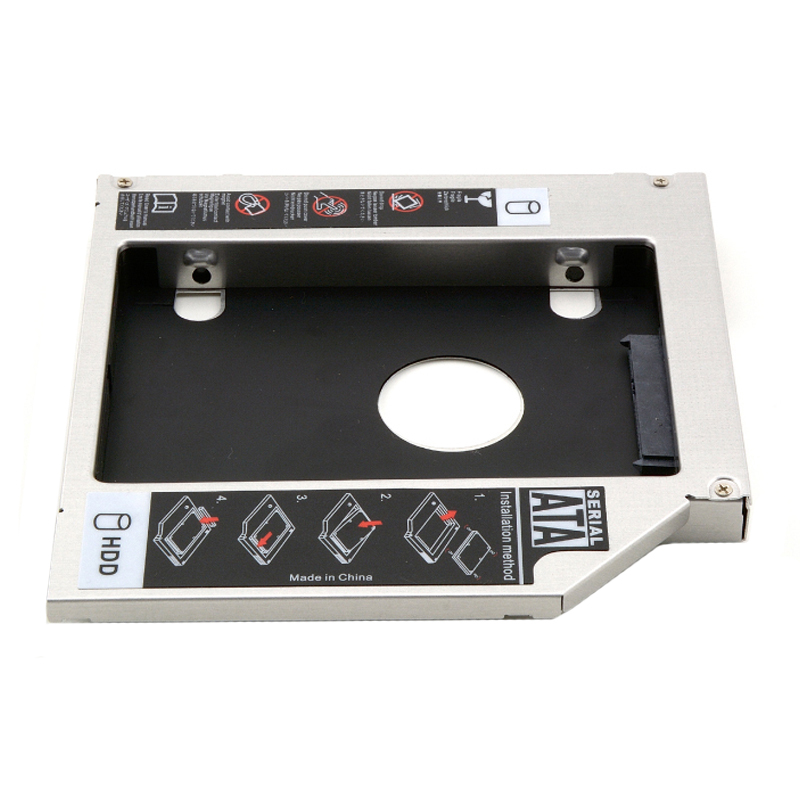 12.7mm 2nd HDD SSD Hard Drive Optical Caddy Adapter For HP ProBook 4320s 4321s 4325s 4326s 4520s 4525s 4510s 4530s