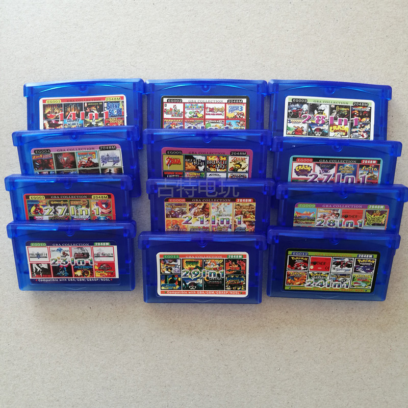 Pokemon GBA Games GBA SP Game English Card Super Mario Advance CastlevaniaClassic Game Collect Colorful Version English Language