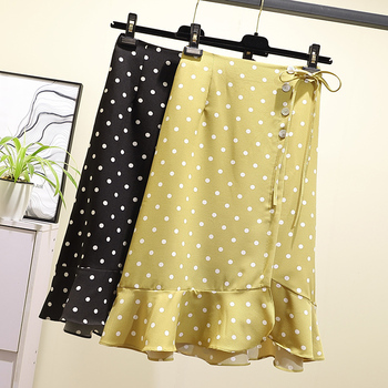 JVCAKE women Skirts new plus size women's ruffled polka dot Chiffon skirts 2020 summer women skirt 5xl skirts womens jvcake women skirts new plus size women s ruffled polka dot chiffon skirts 2020 summer women skirt 5xl skirts womens