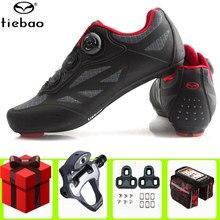 Tiebao kolarstwo szosowe buty mężczyźni trampki kobiety auto-blokada Sport rowerowy buty oddychające buty rowerowe Athletic zapatillas de ciclismo