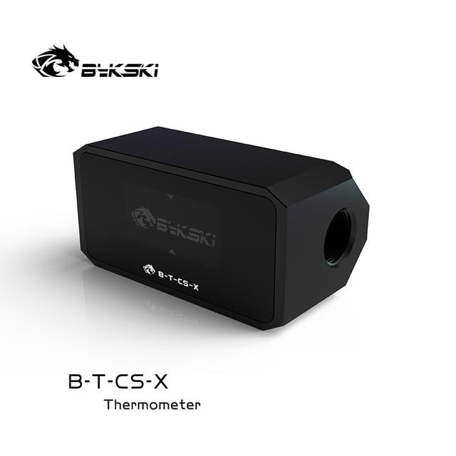 Bykski Water Cooler System Monitor for Temperature Meter / Water Flow OLED Display Double G1/4'' Flow Error Alarm, B-T-CS-X 5