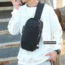 Многофункциональная мужская сумка через плечо с защитой от кражи