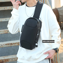 Men Multi-Function Shoulder Bag Theft-Proof Chest Bag Large Capacity Male Running Travel Fitness Bag Durable Lightweight New